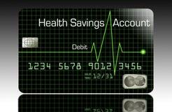 A Health Savings Account debit card vector illustration