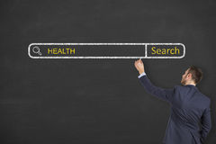 Health on Search Engine Royalty Free Stock Photography