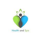 Health & spa vector logo design template.Healthcare & Medical sy Royalty Free Stock Photo
