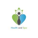 Health & spa vector logo design template.Healthcare & Medical  Royalty Free Stock Photography