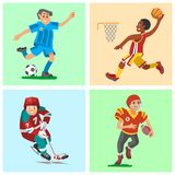 Health sport and wellness flat people characters sporting man activity woman athletic Illustration. Active fitness exercise healthy person training vector illustration