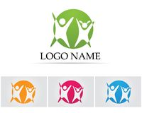 Health success people care logo and symbols template Royalty Free Stock Photo