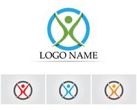 Health success people care logo and symbols template Stock Photo