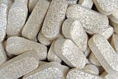 Health Supplement Pills. Vitamin C tablets Royalty Free Stock Photos