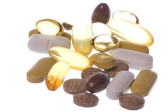 Health Supplements Macro Isolated Royalty Free Stock Image
