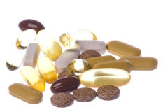 Health Supplements Macro Isolated Stock Image