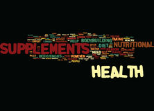 Are The Health Supplements Safe Word Cloud Concept Royalty Free Stock Photo