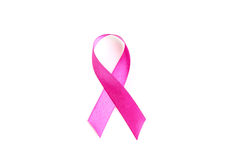 Health symbol pink ribbon on white background.  Royalty Free Stock Image