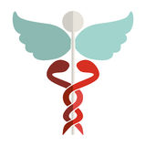 Health symbol with Serpents entwined. Vector illustration Royalty Free Stock Image