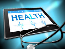Health Tablet Represents Preventive Medicine And Computing Stock Images