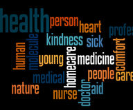 Health Tag Cloud Stock Image