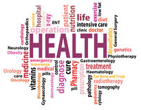 Health tag cloud Royalty Free Stock Images