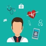Health technology design. Illustration eps10 graphic Stock Photo