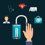 Health technology design Royalty Free Stock Photography