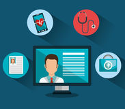 Health technology design. Illustration eps10 graphic Royalty Free Stock Photos