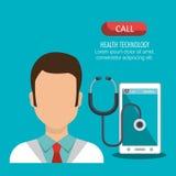 Health technology design. Illustration eps10 graphic Royalty Free Stock Photo