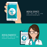 Health technology design Royalty Free Stock Image