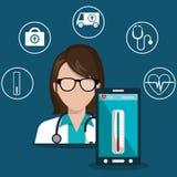 Health technology design. Illustration eps10 graphic Royalty Free Stock Image