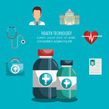 Health technology design. Illustration eps10 graphic Royalty Free Stock Photography