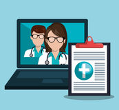 Health technology design. Illustration eps10 graphic Stock Images