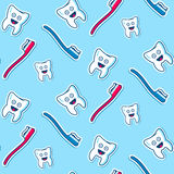 Health teeth seamless pattern Royalty Free Stock Photo