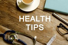 Health tips royalty free stock photos