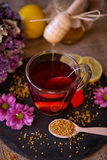 Health, traditional medicine, folk remedy concept - dripping swe Royalty Free Stock Photography