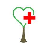 Health tree. A tree with a health symbol stock illustration
