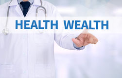 HEALTH WEALTH Royalty Free Stock Photos