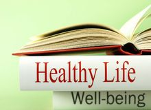 Health and Wellbeing - Books Royalty Free Stock Image