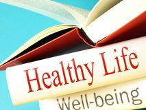 Health and Wellbeing - Books Stock Image