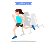 Health and wellness, exercise, running, woman healthy life style Royalty Free Stock Photos