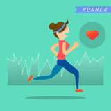 Health and wellness, exercise, running, woman healthy life style Stock Photo