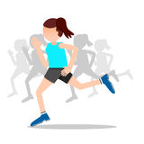 Health and wellness, exercise, running, woman healthy life style Royalty Free Stock Images