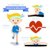 Health and wellness illustration Stock Image
