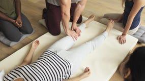 Health Wellness Massage Training Concept stock image