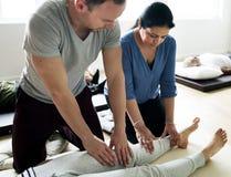 Health Wellness Massage Training Concept stock images