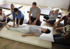 Health Wellness Massage Training Concept stock photography