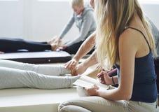 Health Wellness Massage Training Concept. Health Wellness Massage Training Class royalty free stock images