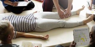 Health Wellness Massage Training Concept. Health Wellness Massage Group Training stock image