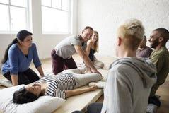 Health Wellness Massage Training Concept. People Health Wellness Massage Training stock image