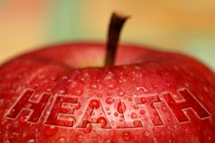 Health - wet apple Stock Photography