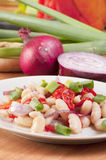 Health White Bean Salad Royalty Free Stock Images