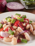 Health White Bean Salad Royalty Free Stock Photos