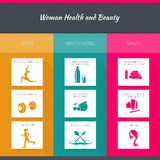 Health and woman beauty infographics Stock Photography