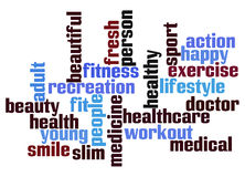 Health word cloud Royalty Free Stock Images