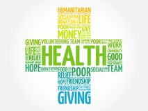 Health word cloud collage stock illustration