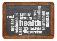 Health word cloud Royalty Free Stock Photo