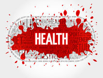 Health word cloud, fitness Stock Images