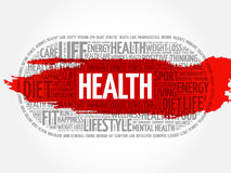 Health word cloud, fitness. Health concept Stock Photography